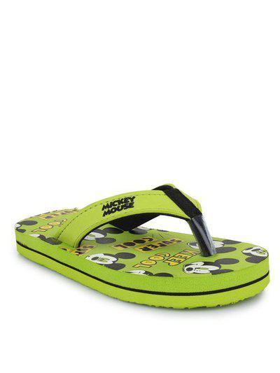 Mickey Kids Green Flip Flop
