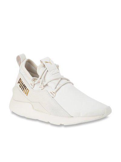 Puma Muse 2 Metallic Pastel Parchment Sneakers
