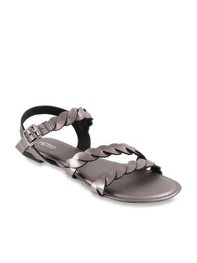Metro Women Gun Metal Synthetic Sandals (34-9561-29-37-GUN Metal) Size (/)