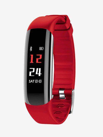 Hammer Fit Smart Fitness Tracker (Red/Black)