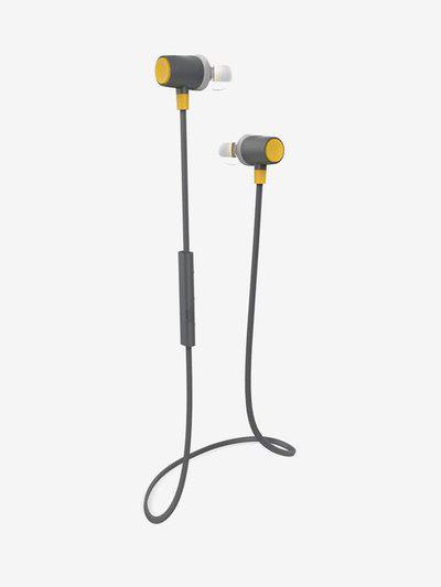 Portronics Harmonics 214 Wireless Sports Bluetooth Headset (Yellow)