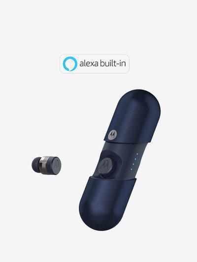 Motorola Vervebuds 400 TWS Bluetooth Earbuds with Built-in Alexa (Royal Blue)