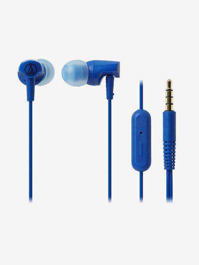 Audio-Technica ATH-CLR100 Wired Earphones with Mic (Blue)