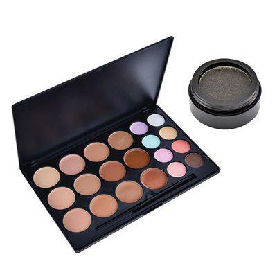 Buy GlamGals 20 Color Matte Finish Waterproof Concealer Palette (100gm) & Get Liquid Metal Eyeshadow - Black(12.6gm) Free
